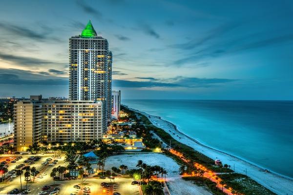 Mid Beach Miami at Dusk by AndrewAlbert