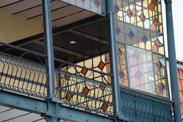 Art nouveau balcony