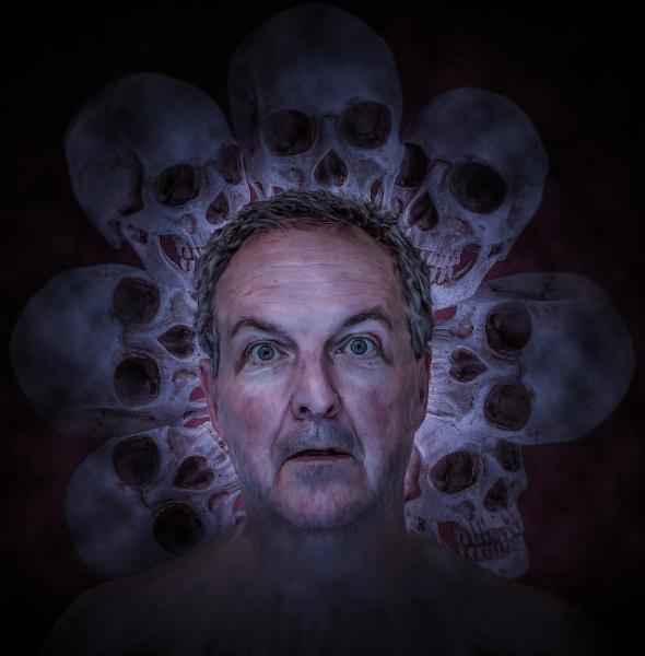 Self Portrait With Skulls