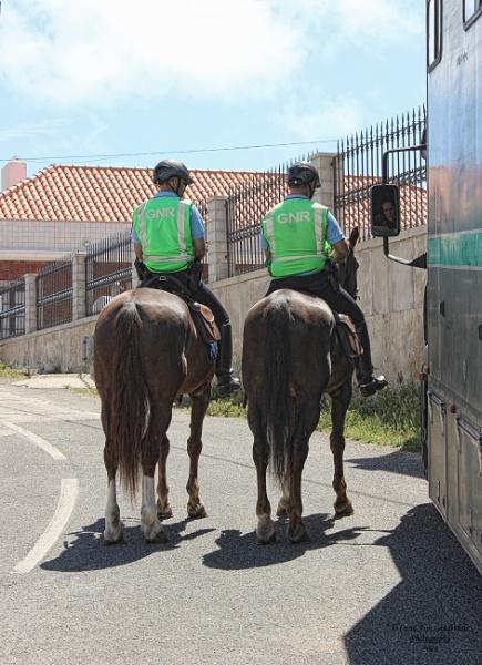 On Guard at Cabo Da Roca, Portugal - Guarda Nacional Republicana by canoncarol