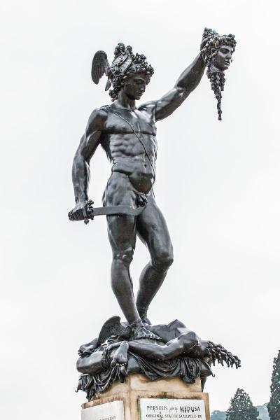 Perseus holding Medusa's Head
