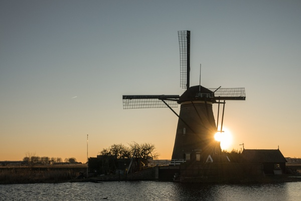 Mill in sunset by joop_