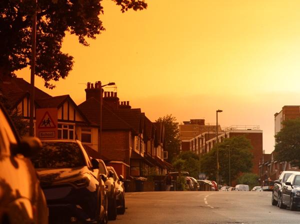 Strange light fell over London this evening