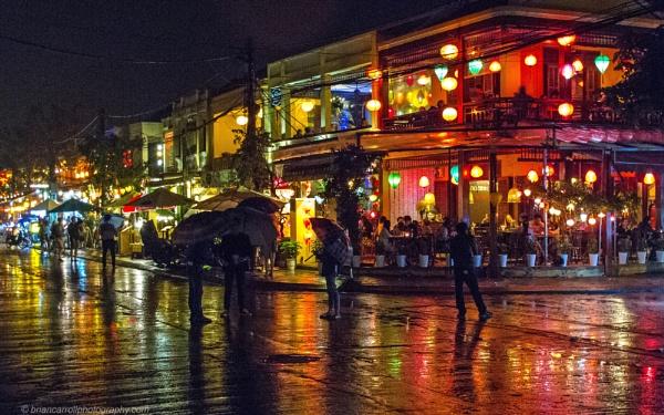 Rainy night in Hoi An, Vietnam