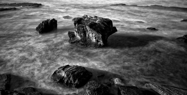 Sea Rocks B and W by optimist950