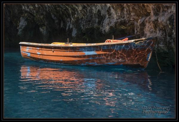 Tour boat in Melissani Lake Cave Kefalonia by IainHamer