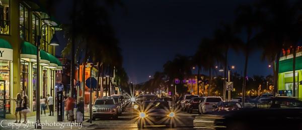 Night Moves....Beach Traffic  by john33991
