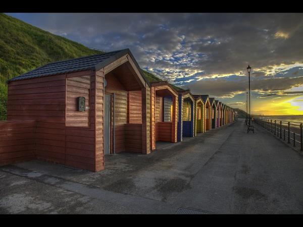 Saltburn Beach Huts by stevenb