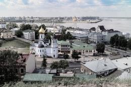 Nizhny Novgorod. The view down from the Kremlin