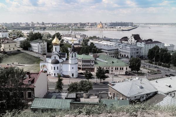 Nizhny Novgorod. The view down from the Kremlin by ViVla