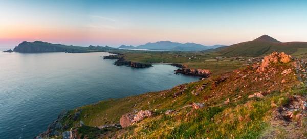 Sunset at Dunmoore Head, Dingle Peninsula, Ireland by BobinAus