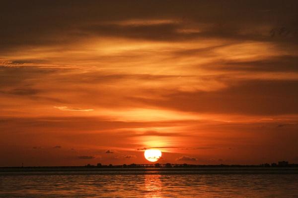 Sunset. Port Manatee, Florida by BHSDallas