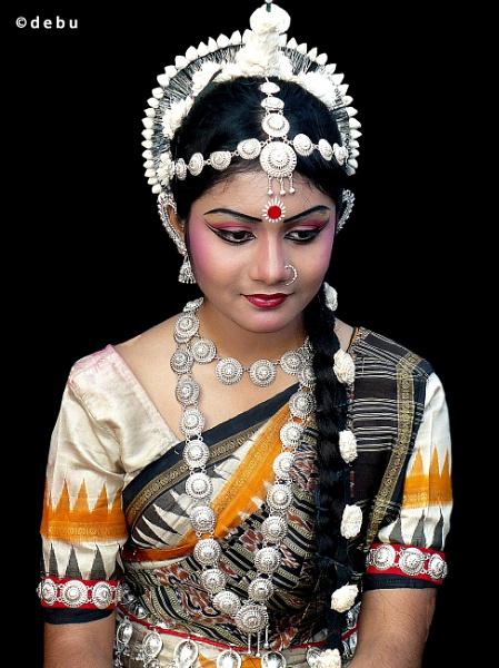 Indian odissi dancer... by debu