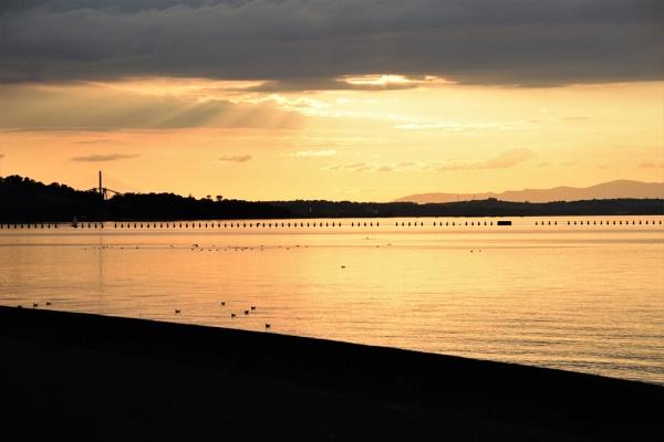 Sunset Cramond Beach by davyskid