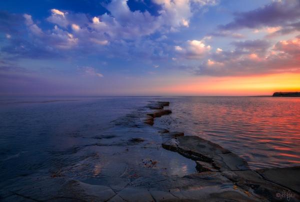 Sunset, Kimmeridge Bay by PLCimagery