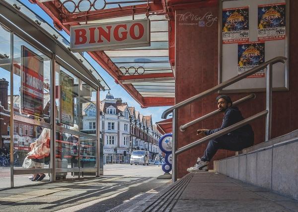 The Bingo Bus Stop by MartinWait