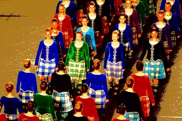 Dancers at Edinburgh military tattoo. by rustyshackleford