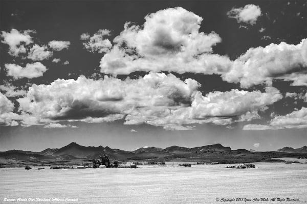Summer Clouds Over Farmland by Ycmah