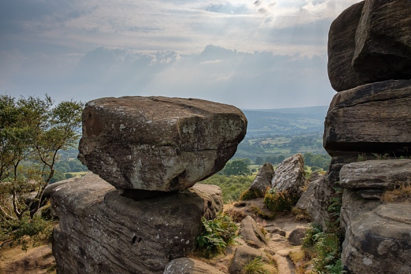 Scenic view of Brimham Rocks in Yorkshire Dales National Park by Phil_Bird