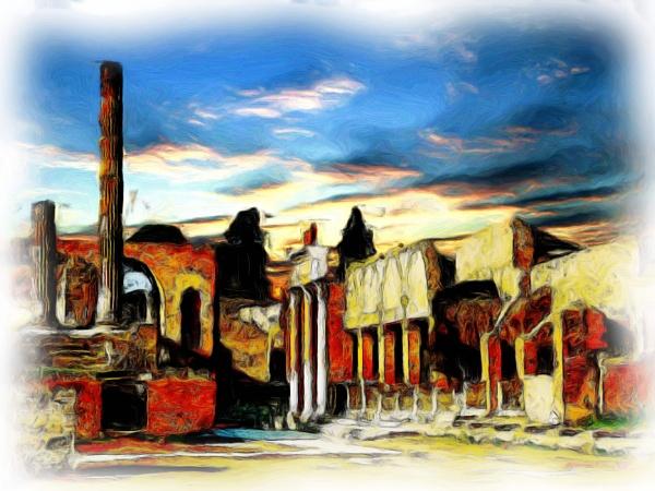 Pompeii ruins by iscaphotos21