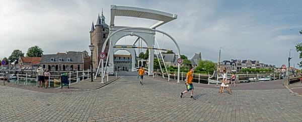 Panorama of the old harbour of Zierikzee by joop_
