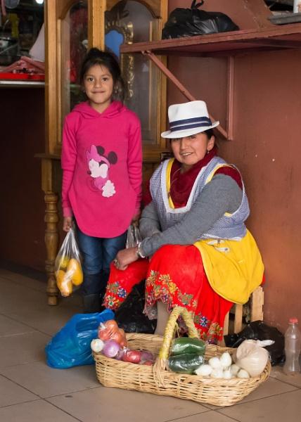 Market seller - Cuenca by barryyoungnz