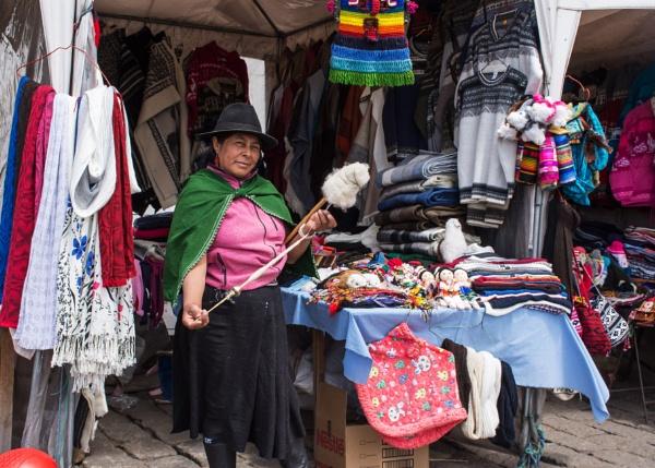 Market seller - Ecuador by barryyoungnz
