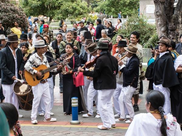 Street musicians - Otavalo by barryyoungnz