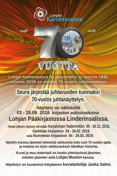 Lohja Camera Club - 70 years exhibition. by kuvailija