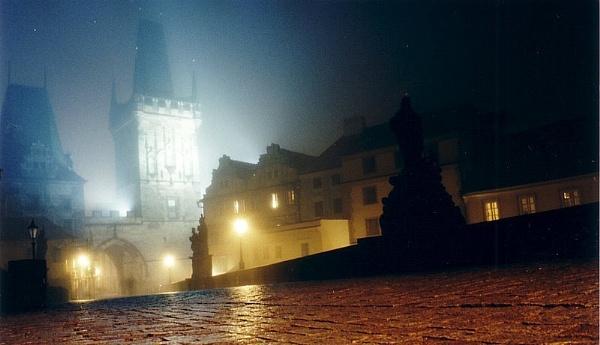 Charles Bridge Prague at night. by rustyshackleford