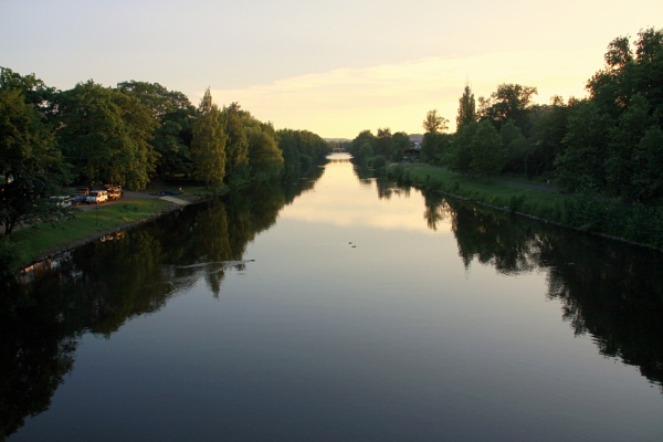 On the river Carrie Vary in the Czech Republic by ksabestman
