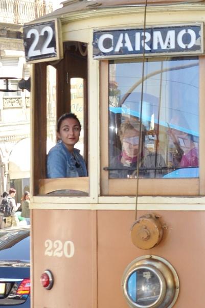 Girl in a tram Oporto Portugal by ktboldy