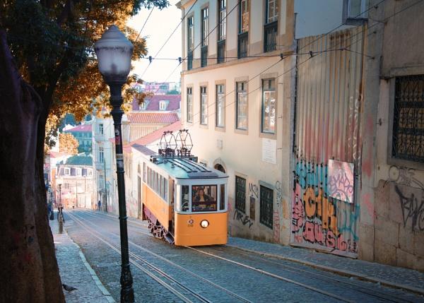 Lisbon Tram early morning by Rorymac