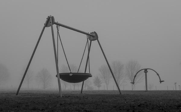 Gloomy Playground in the Fog by Otinkyad