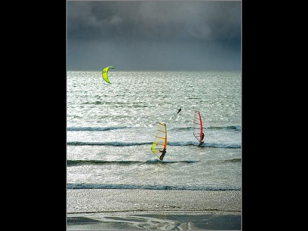 Silver Windsurfers by Otinkyad