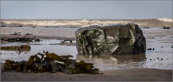 Rock on Kilve Beach by Otinkyad