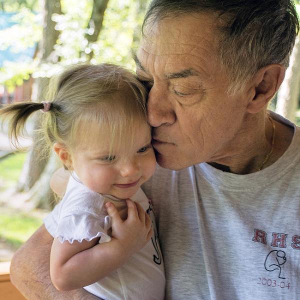 Gianna with grandpa by jbsaladino