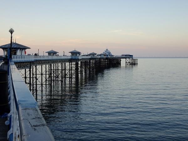 Evening light on Llandudno pier by dixy