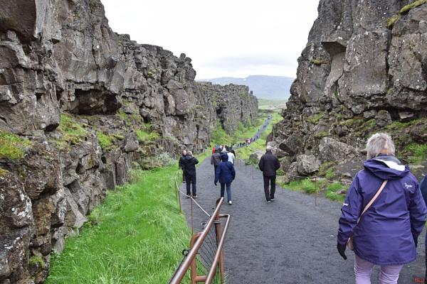 Almannagjá gorge. Iceland by voyger1010