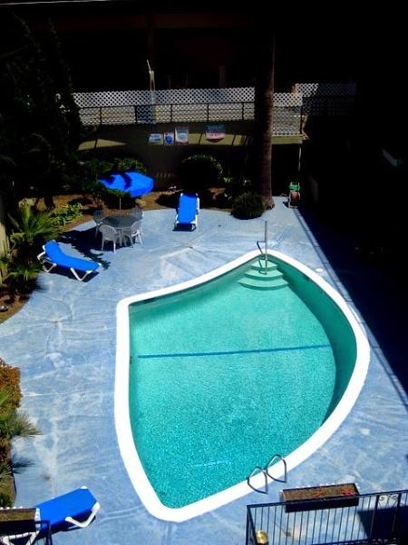 Motel pool. by rustyshackleford