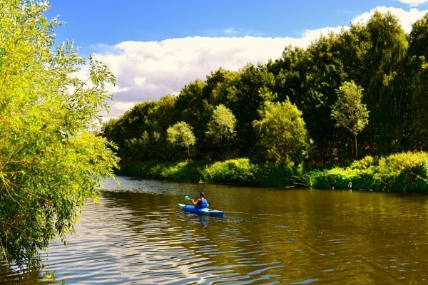 The Blue Canoe by ktboldy