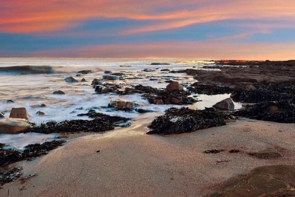 Sunrise At Newbiggin Beach