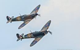 Supermarine Spitfires at Duxford Air Show