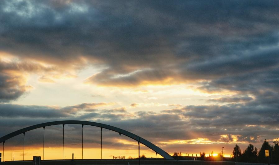 East London sunset