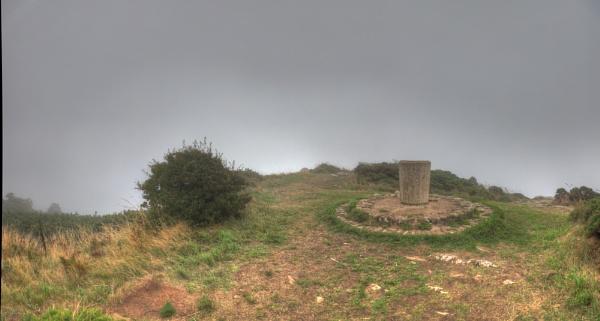 Pillar in the mist