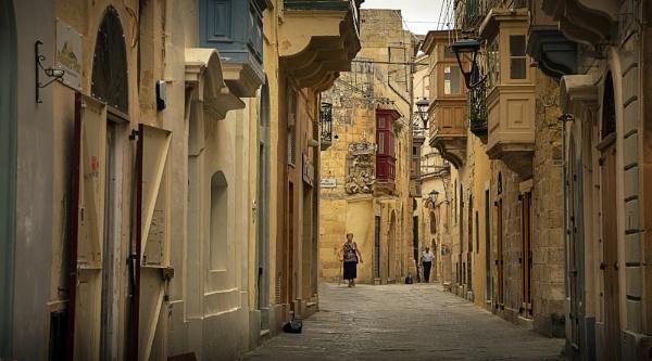 Rabat Malta Typical street life