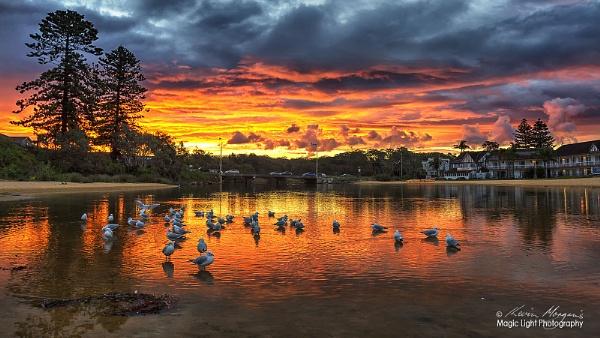 Terrigal Lagoon Sunset by kmorgan3