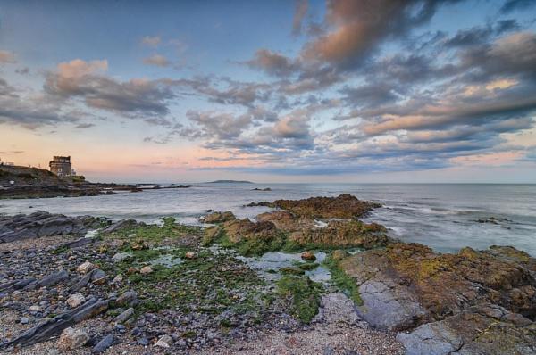 Stony beach Sunset by markst33