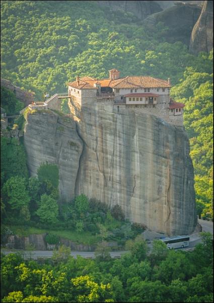 Roussanou Monastery by jimobee