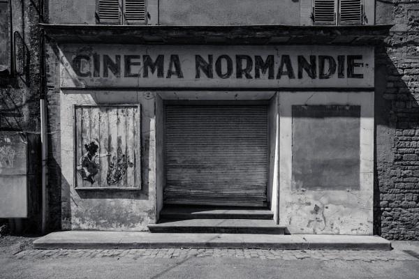 Cinema Normandie + color + B&W by Drummerdelight
